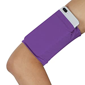 Cellphone running arm band - Pure Purple