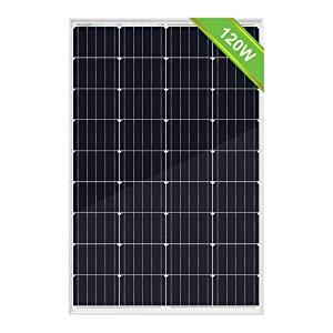 ECO-WORTHY Kit de paneles solares de 120 vatios y 12 vatios: panel solar de 120 vatios y controlador de carga solar de 20 mA, cable solar de 5 m y soportes de