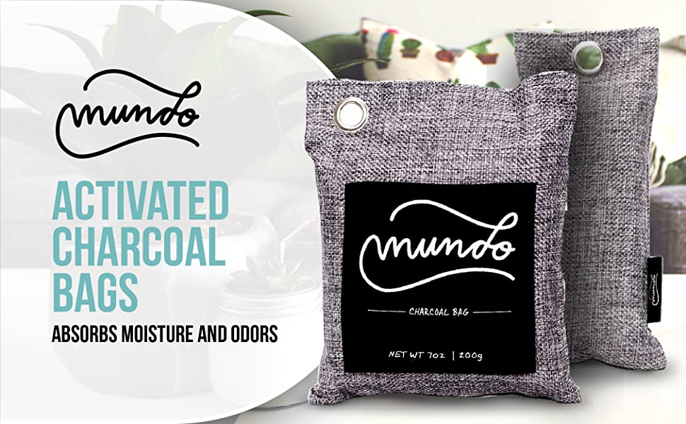 Mundo activated charcoal bags absorbs moisture and odors 200g bag