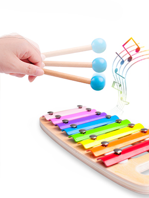 Jouet à Marteler 8 Notes Xylophone