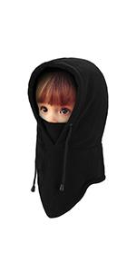 A black balaclava face mask for kids