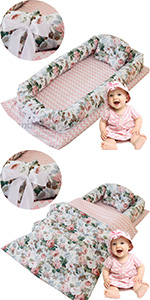 rose baby nest bed