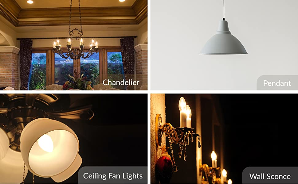 incandescent b10 ctc c32 light bulb applications chandelier ceiling fan pendant wall sconce