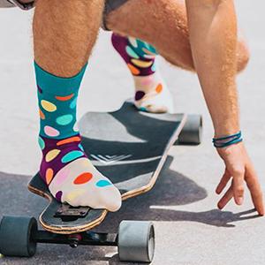 Colorful Dot Pattern Funny Fun Crazy Novelty Cool Dress Socks