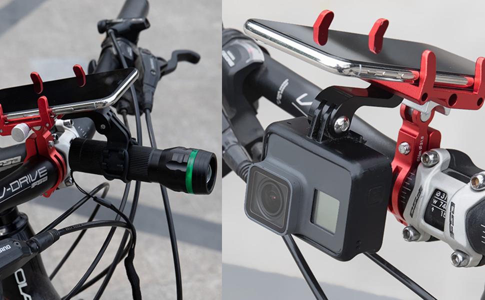 Multifunctional use,can be phone holder,Action camera holder,flashlight holder
