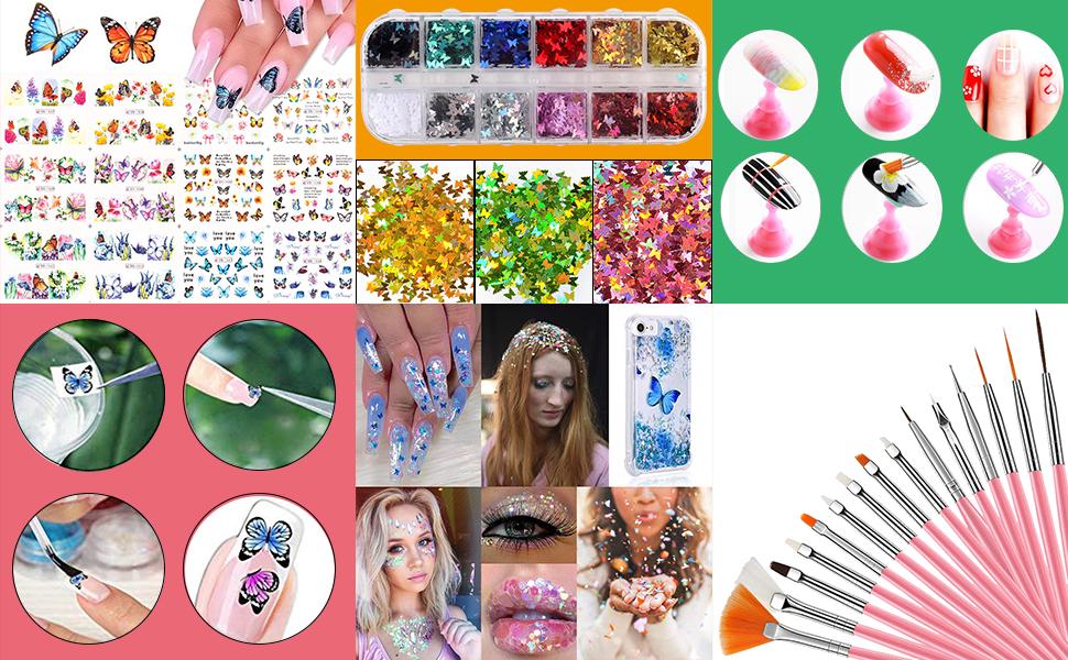 nail desk station butterfly nail art nail art brushes