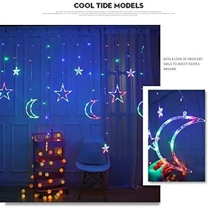 moon and star led light room decoration