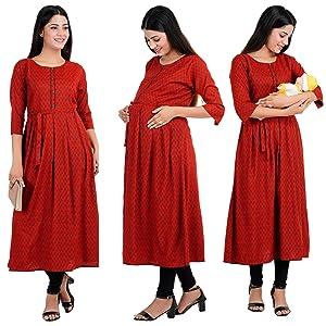 cee18 kurta for maternity breast feeding