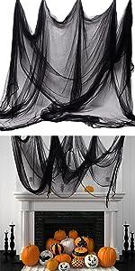 Halloween Black Creepy Cloth