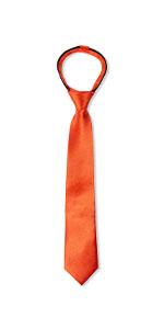 spring notion, zipper, ties, burnt orange