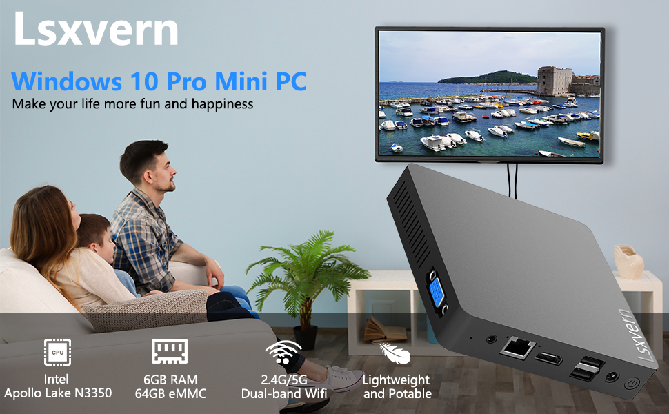 mini computers mini pc small computer cheap pc windows 10 gaming pc  vga usb3.0 Dual wifi bluetooth