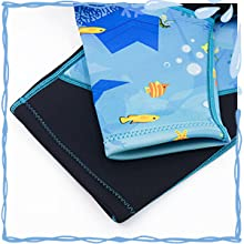 OMGear 3mm neoprene kids shorty wetauit one piece back zipper diving suit for boys girls and youth