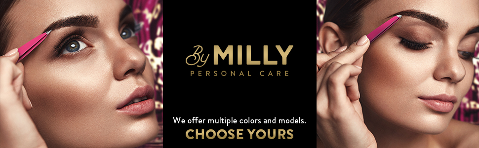 By MILLY tweezers for women and men