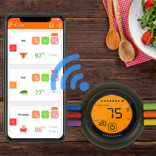 cooking cloud app enjoy bbq android iphone ios easy pair smartphone bluetooth thermometer synch