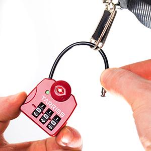 Tsa lock, cable lock, zipper lock, flexible cable lock
