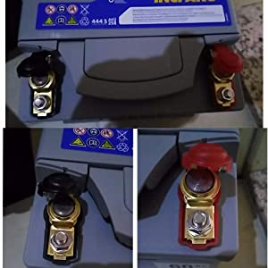 4PCS//2 Paar 12V KFZ Batterieklemmen Auto Batterie Polklemmen Boot Schnellklemmen
