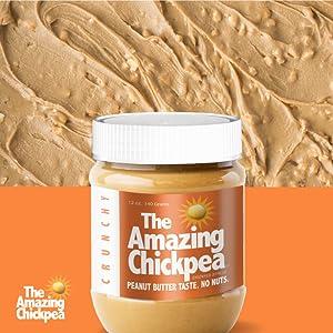 Crunchy Peanut Butter, Chickpea butter