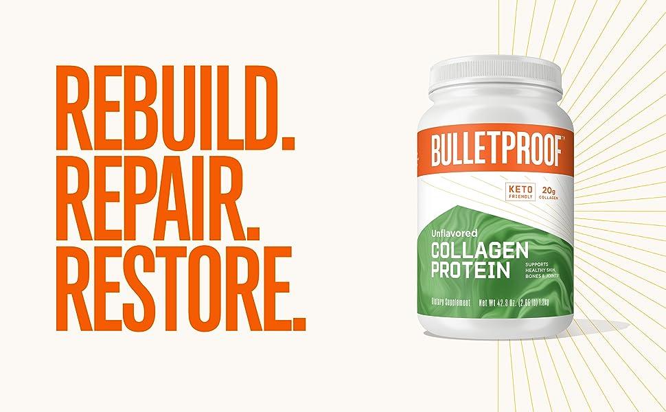 Bulletproof brain octane oil mct collagen protein peptides vital hydrolyzed clean collagen