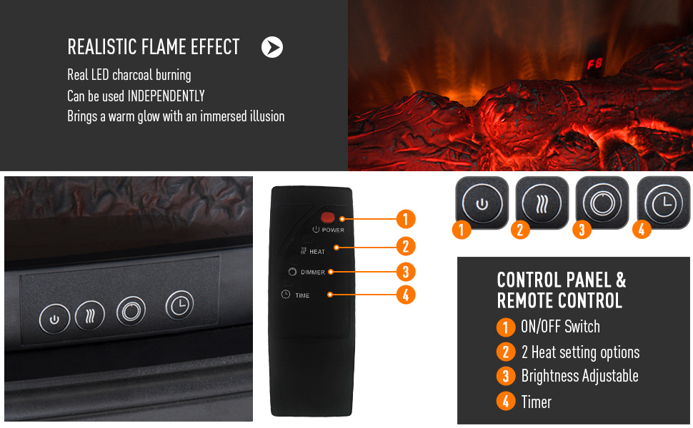 realistic flame effect