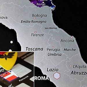Cartina Dell Italia Rovigo.Exsusia Mappa Del Mondo Da Grattare Con Design Esclusivo Mappamondo Da Grattare Cartina Geografica Italia Da Grattare Il Planisfero Del Viaggiatore Imperdibile Mappa Del Mondo Scratch Map