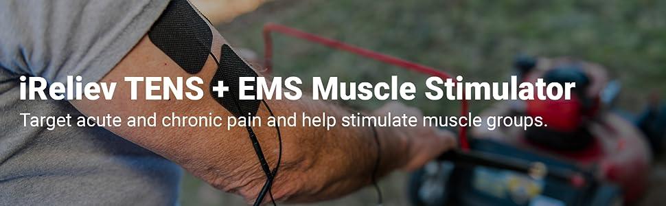 ET-7070 iReliev TENS + EMS alivio del dolor y estimulador muscular