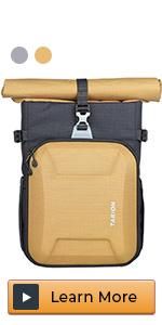 laptop camera backpack roll top hardshell