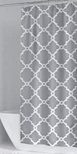 LinTimes Cortina de ducha impermeable resistente al moho Tan Chevron Geom/étrico Tela de Ducha para Cuarto de Ba/ño 35 x 72 pulgadas