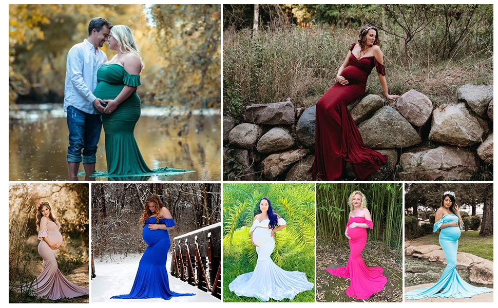 mermaid maternity dress