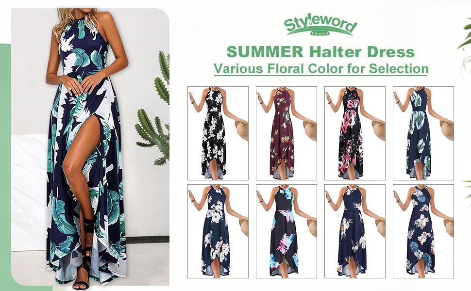 halter neck dress for women