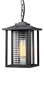 Outdoor pendant light exterior hanging lantern