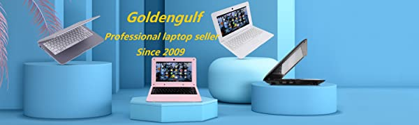 goldengulf laptop  Goldengulf 2020 Latest 10 Inch Computer Laptop PC Android 6.0 Quad Core Mini Notebook Netbook 8GB WiFi Webcam USB Netflix YouTube Google Player Flash (Pink) e4023963 71b6 4e0d b4e4 3e9ccaaeb0b5
