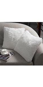 White throw pillow 18*18