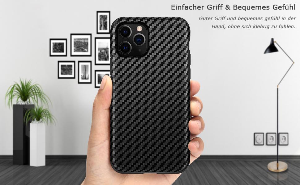 Tasikar Kompatibel Mit Iphone 11 Pro Hülle Carbon Leder Elektronik