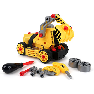 7-in-1 DIY Take Apart Truck Car Toys for 3 4 5 6 7 Year Old Boys Girls,  Construction Engineering STEM Learning Toys Building Play Set for Kids