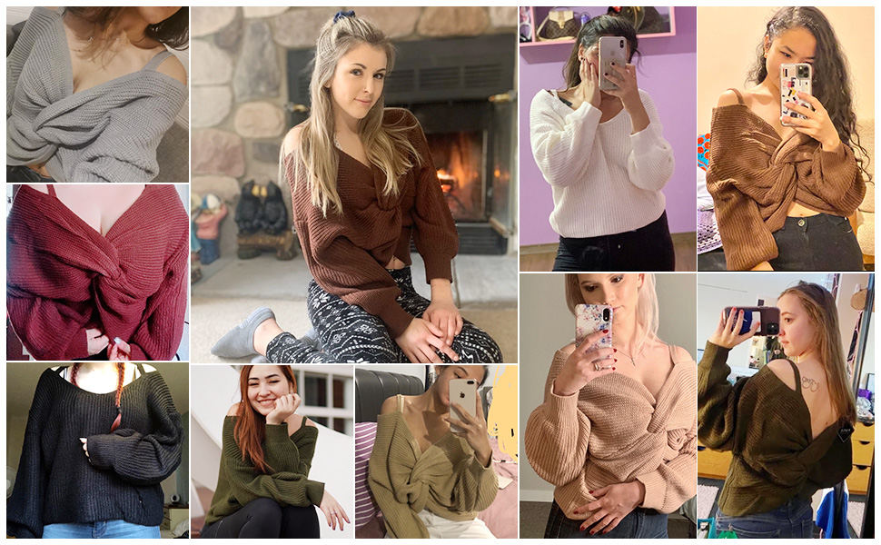 twisted knot sweaters for women