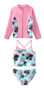 3pcs Long Sleeve Swimsuit