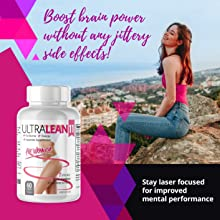Ultra Lean 11 Weight Loss Fat Burner Supplement Lifestyle Girl on Rock