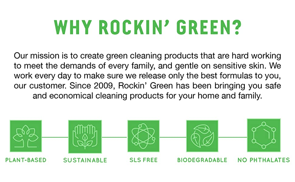 rockin green cloth diaper natural powerder laundry deteregent