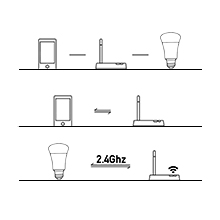 Connect the Bulb with your WiFi via the APP