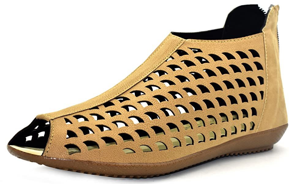 Women Casual Sandal,Women Flat Stylish Saandal, Women Beige Color sandal,Girls Flat Sandal