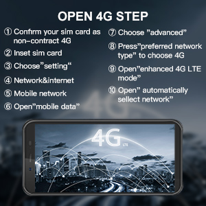 Waterproof Unlocked Smartphone 4G LTE