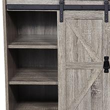 Modern Farmhouse Sliding Barn Door sideboard buffet storage cabinet console for kitchen livingroom