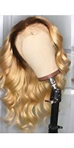 Dark root #613 wavy wig