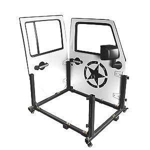 Door Storage Movable Cart Door Holder Sliding Rack for 2007-2020 Jeep Wrangler JK JL Unlimited