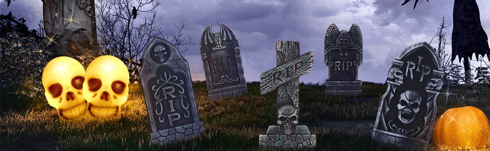 halloween graveyard decoration