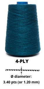 4-ply linen yarn