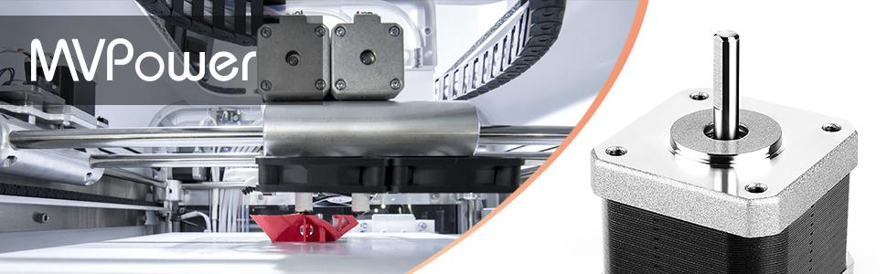 MVPOWER Set de 5pcs de Motores Paso a Paso Bipolar para Impresoras ...