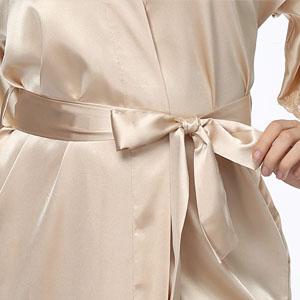 silk robe with pockets
