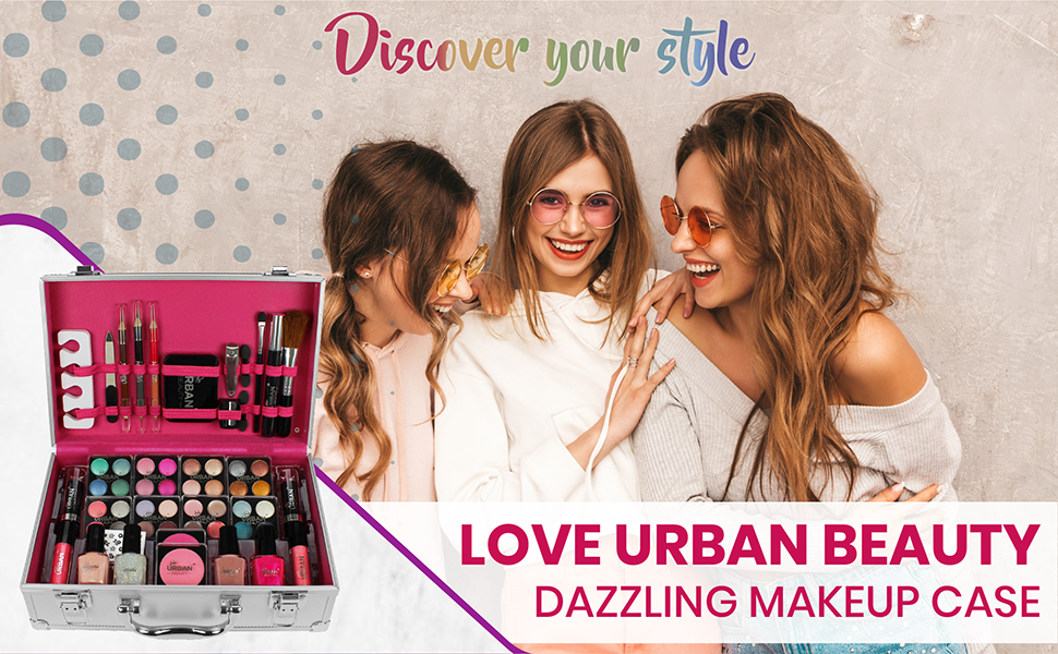 Love Urban Beauty 60 Piece Dazzling Makeup Case