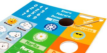 aeioubaby magnetbitar magnetisk  klocka klockkalender leksaker spel lärande utbildning